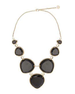Kendra Scott Rebecca Necklace, Black Cat's Eye