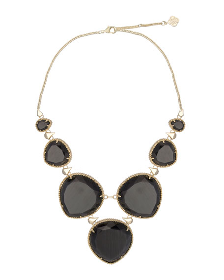 Rebecca Necklace, Black Cat's Eye
