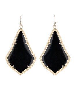 Kendra Scott Alexandra Earrings, Black