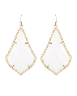 Kendra Scott Alexandra Earrings, Mother-of-Pearl