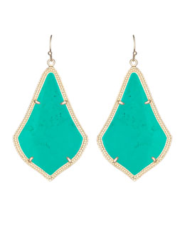 Kendra Scott Alexandra Earrings, Teal