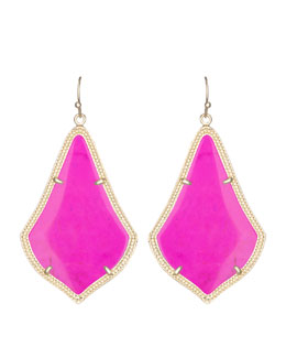 Kendra Scott Alexandra Earrings, Magenta