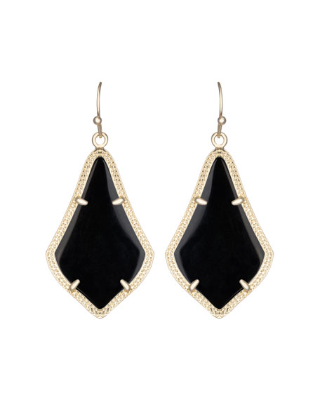 Alex Earrings, Black