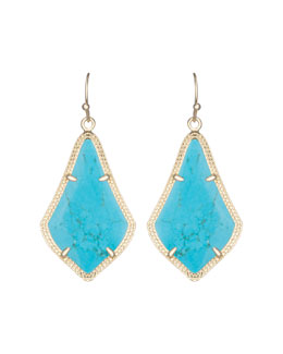 Kendra Scott Alex Earrings, Turquoise