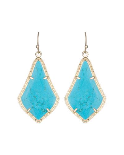 Kendra Scott Alex Earrings, Turquoise