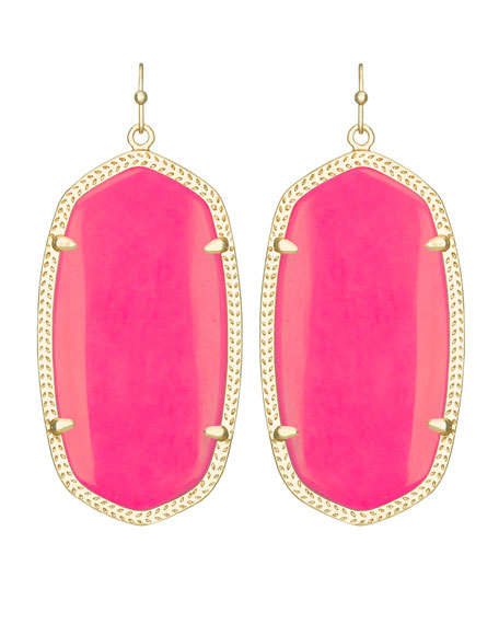 Danielle Earrings, Coral
