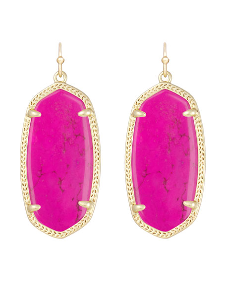 Elle Earrings, Magenta