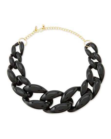 Kenneth Jay LaneBlack Link Necklace