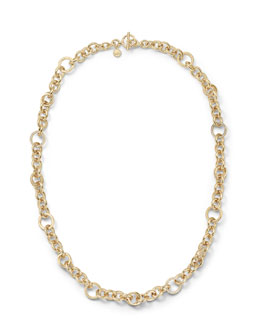 Michael Kors  Pave Link Necklace, Golden