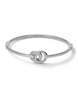 Michael Kors  Interlock Circles Bracelet, Silver Color
