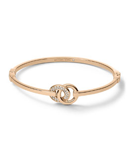 Michael Kors  Interlock Circles Bracelet, Rose Golden