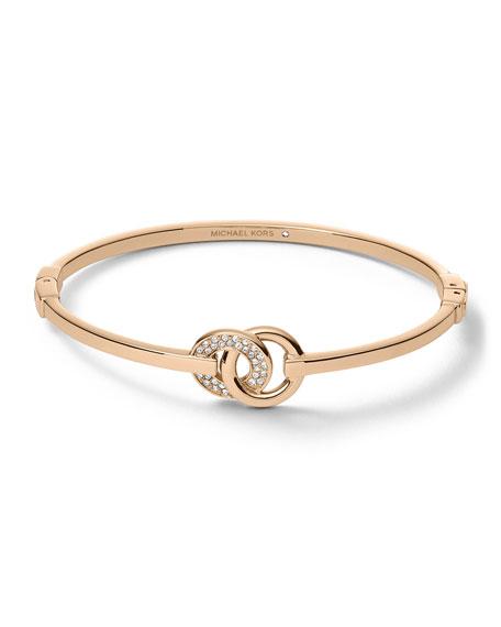 Interlock Circles Bracelet, Rose Golden