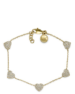Michael Kors  Pave Heart Bracelet, Golden