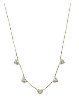 Michael Kors  Pave Heart Charm Necklace, Golden
