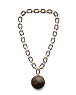 Michael Kors  Link Disc Necklace, Golden/Tortoise