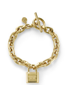 Michael Kors  Padlock Toggle Bracelet, Golden