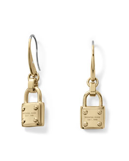 Michael Kors  Padlock Drop Earrings, Golden