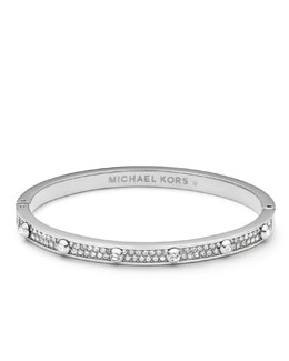 Michael Kors  Pave Astor Bangle, Silver Color