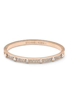 Michael Kors  Pave Astor Bangle, Rose Golden