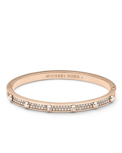 Michael Kors  Pave Astor Bangle, Rose Golden