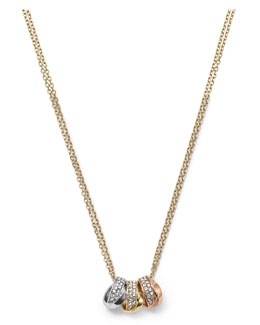 Michael Kors  3-Ring Double Necklace, Tri-Tone