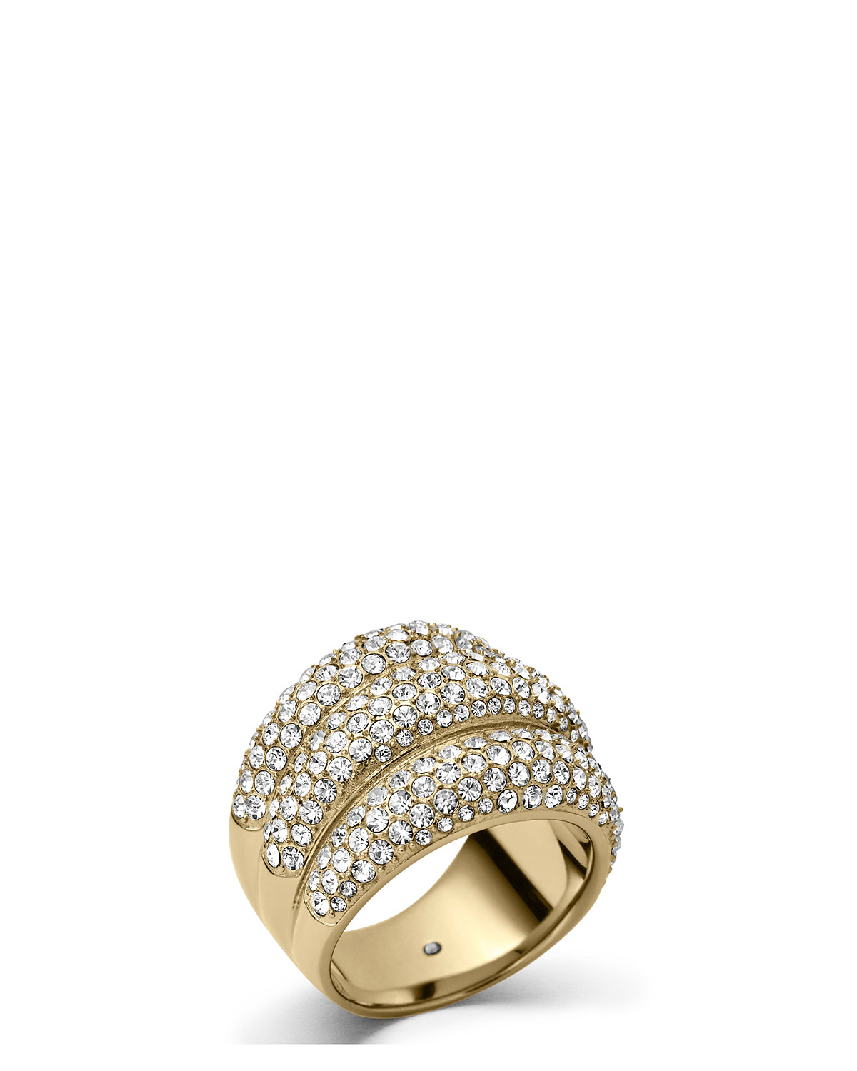Triple-Stack Pave Ring, Golden