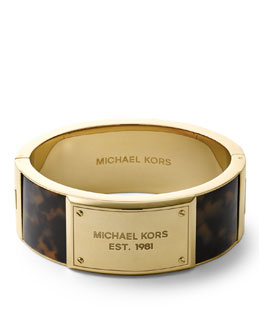 Michael Kors  Frame Hinge Bangle, Golden