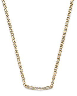 Michael Kors  Reversible Logo Necklace, Golden