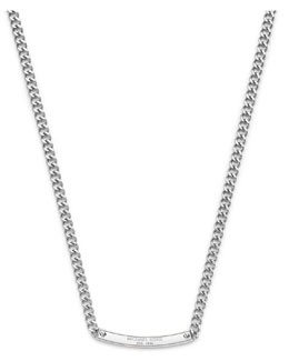 Michael Kors  Reversible Logo Necklace, Silver Color