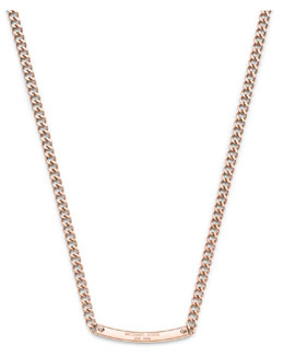 Michael Kors  Reversible Logo Necklace, Rose Golden