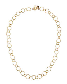 "Armenta 18k Yellow Gold Circle Link Necklace, 18""L"