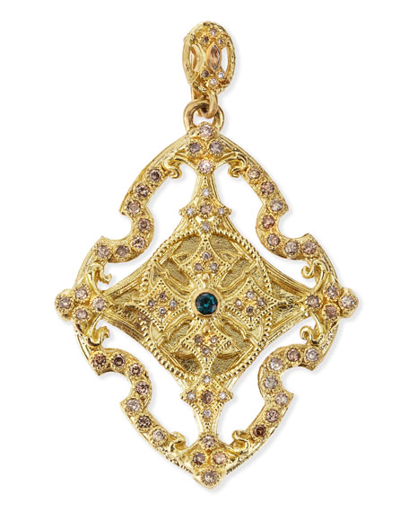 18k Yellow Gold & Diamond Cross Enhancer