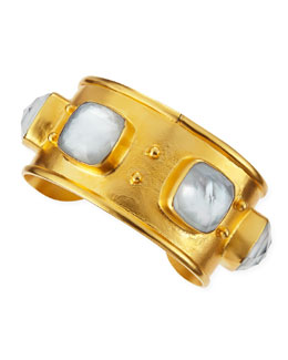 Dina Mackney 18k Vermeil Mother-of-Pearl Doublet Cuff