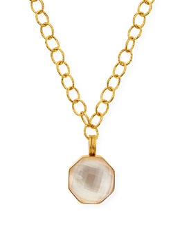 "Dina Mackney Mother-of-Pearl Hexagon Pendant Necklace, 18""L"