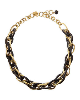 Ashley Pittman Ndovu Dark Horn & Bronze Necklace