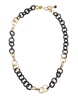Ashley Pittman Mawani Dark Horn & Bronze Necklace