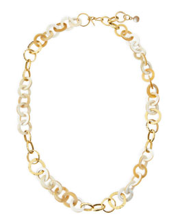 Ashley Pittman Mawani Light Horn & Bronze Necklace