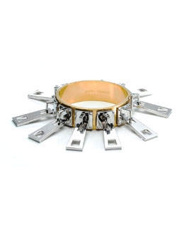 Eddie Borgo Mixed Metal Zipper Slide Bracelet