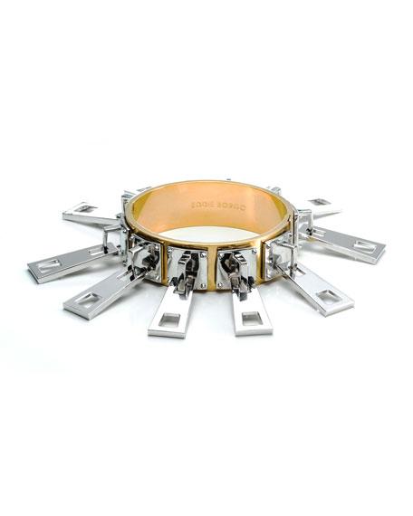 Mixed Metal Zipper Slide Bracelet