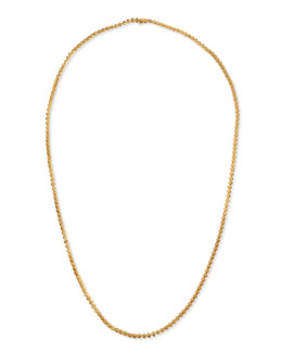 Eddie Borgo Matte Yellow Gold Pyramid Link Necklace
