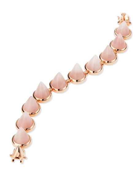 Rose Quartz Rose Gold Cone Bracelet