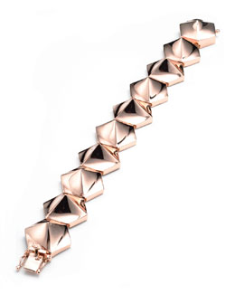 Eddie Borgo Bent Pyramid Bracelet, Rose Gold