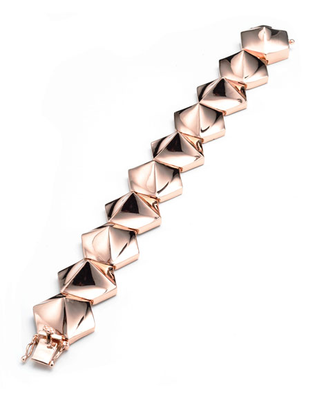 Bent Pyramid Bracelet, Rose Gold