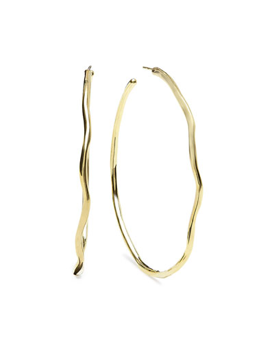 18k #6 Glamazon Squiggle Hoop Earrings