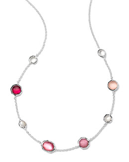 Ippolita Sterling Silver Wonderland Mini Gelato Short Station Necklace in Rio, 16-18""