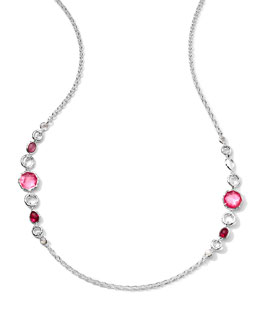 "Ippolita 36"" Sterling Silver Wonderland 2-Station Chain Necklace, Rio"