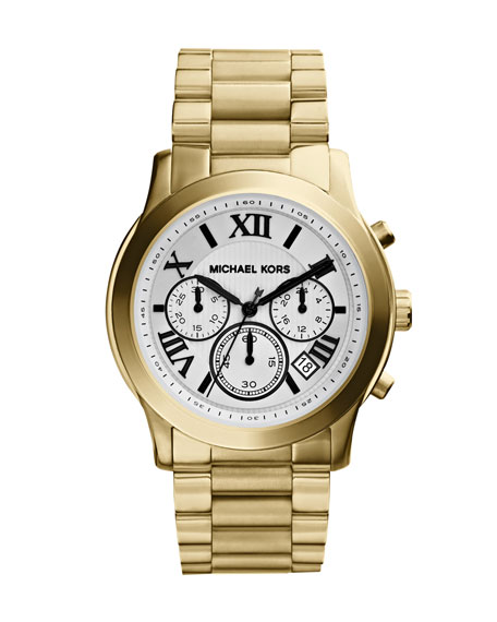 Mid-Size Cooper Golden Stainless Steel Runway Chronograph Watch