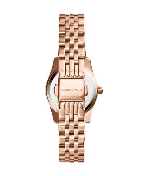 Petite Rose Golden/Cobalt Stainless Steel Lexington Three-Hand Watch