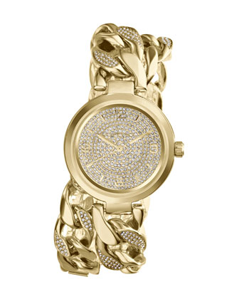 Mid-Size Golden Ellie Three-Hand Glitz Watch