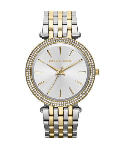 Mid-Size Two-Tone Stainless Steel Darcy Three-Hand Glitz Watch